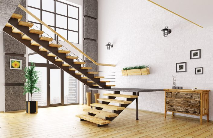 Open Tread Steel Stringer Stairs