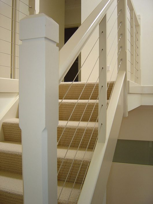 Bevelled Newell Post Staircase