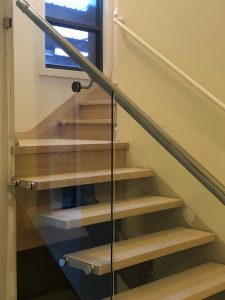 Open / Closed Combo Stairs with Glass Balustrading