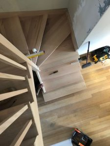 Tread to Ceiling Balusters | Timber staircases sunbury