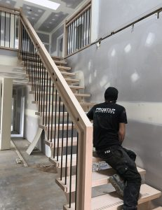 Open Tread Dual Handrail Staircases