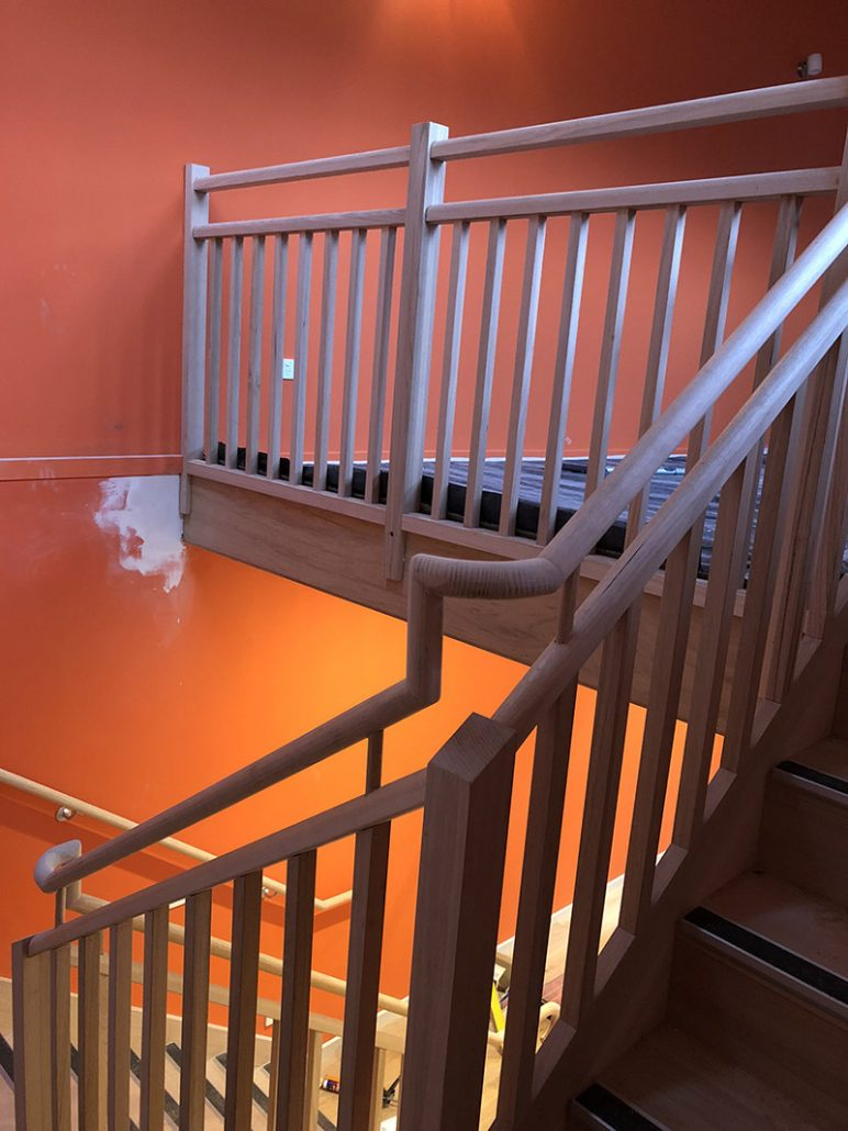 Commercial Timber Hand Rail | timber stair manufacturers melbourne