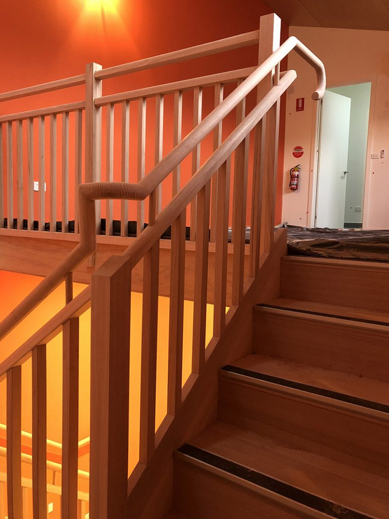 Commercial Timber Hand Rail and Stairs