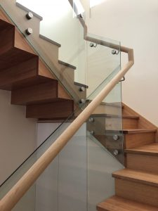 Sawtooth Staircase with Glass Balustrading